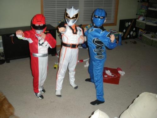 Halloween-Powere Ranger Style(Brenden, Jasxon and cousin Caden